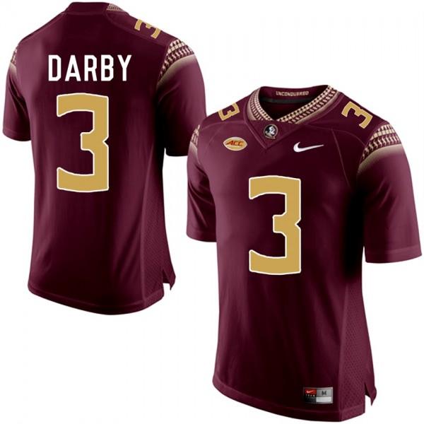 Ronald Darby Florida State Seminoles Stitched Jersey Garnet #3 ...