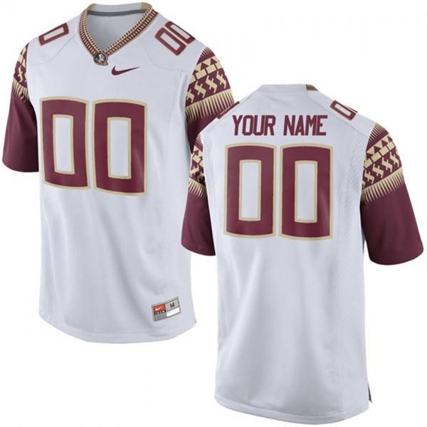 00 White Men's Limited Football Florida State Seminoles Customized ...